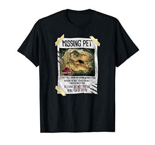 Jurassic Park Missing Pet T-Rex Poster Humor  T-Shirt -