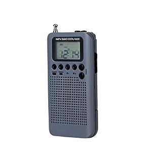 Pandiki AM/FM Batteriebetriebene Funk drahtlose bewegliche Minitaschen-Außen Klar Receiver Lautsprecher-Musik-Player