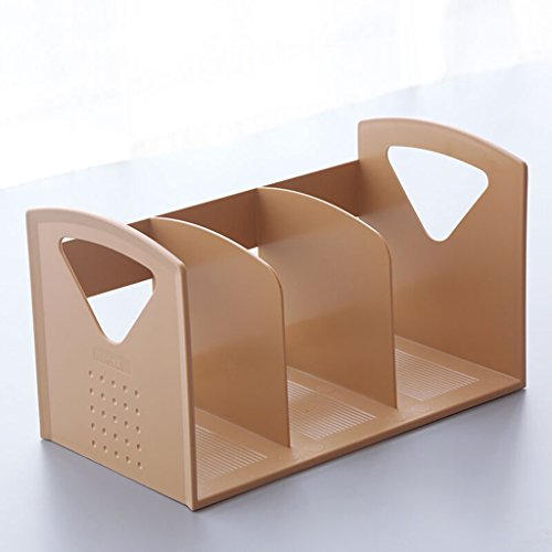 DFHHG® Soporte para libros creativos 34 * 21.5 * 19 Cm Papelería para archivos Escritorio para estudiantes Escritorio Chocolate Color durable ( Color : #4 )