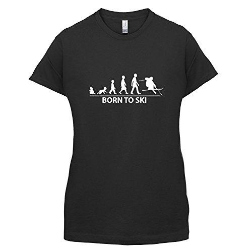 Born To Ski - Damen T-Shirt - 14 Farben Schwarz