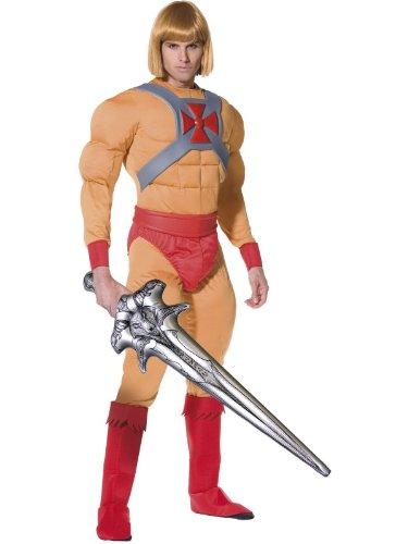 SMIFFIES Erwachsenen-Kostüm Prince Adam Muskelkostüm - He Man und die Masters of the Universe - Größe (Kostüme Erwachsenen Heman)