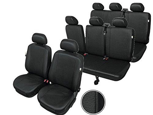 Kunstleder Sitzbezüge Sitzschoner Sitzüberzüge 8 Sitze Fahrersitzbezug Beifahrersitzbezug Dreierbank(Klappbar) Dreierbank - Kegel Sitz