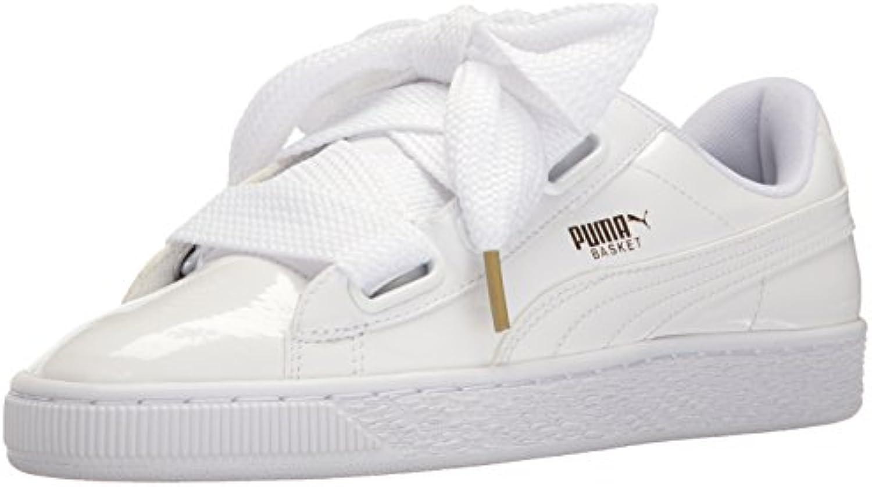 Puma Frauen-Korb-Herz-Patentschuhe 37.5 EU White White 2018 Letztes Modell  Mode Schuhe Billig Online-Verkauf