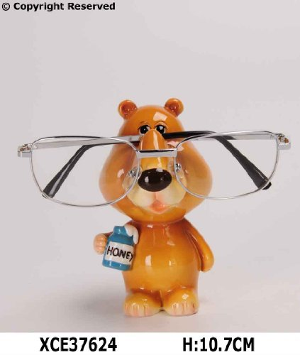BEAR GLASSES HOLDER STAND NOSE RACK READING SPECTACLES GIFT SET SUNGLASSES SPECS SUN by BARGAINS-GALORE