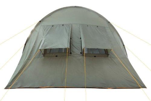 CampFeuer Campingzelt für 4 Personen | Großes Familienzelt mit 3 Eingängen und 5.000 mm Wassersäule | Tunnelzelt | olivgrün | Gruppenzelt | So macht Camping Spaß! - 5