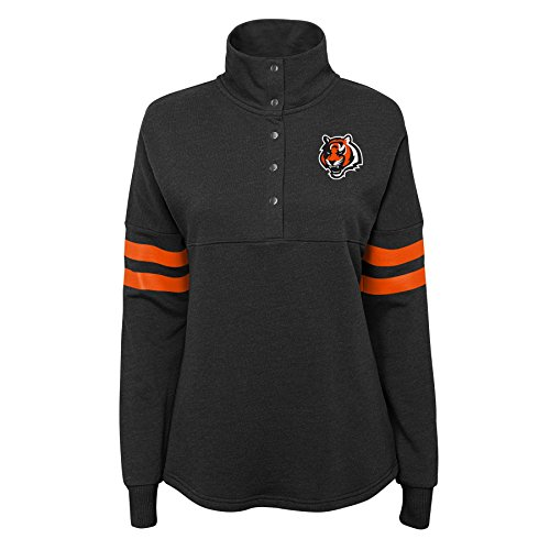 NFL by Outerstuff NFL Cincinnati Bengals Junior Classic Throw Varsity 1/4 Snap Pullover, Schwarz, Größe XL (15-17) Varsity Snap