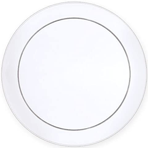 Premium Quality Heavyweight Plastic Plates, Wedding and Party Dinnerware Plastic Plates, 9 inch, Crystal Clear - Value Pack 30 Count