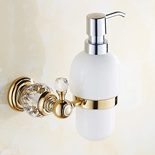 Keramik Seifenspender,Wandmontage Retro Kupfer Dusche dispenser,Für Badezimmer Waschraum Oberfläche messingmaterial-B 13x19cm(5x7inch)
