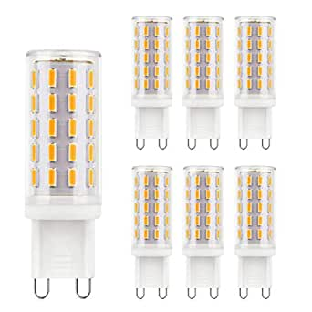 Lampadine LED G9 Bianco Caldo 2700K 40W Equivalente No Flicker No Strobe 4W a Lampadina 119-128L/W AC 110-240V Lampadine a Risparmio Energetico Non Dimmerabili 6 pacco
