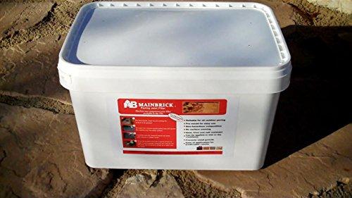 Mainbrick Pflasterfugenmörtel Fix-Fertig Fugenmörtel basalt 15 kg - Keine Unkraut, Wasserdurchlässig,