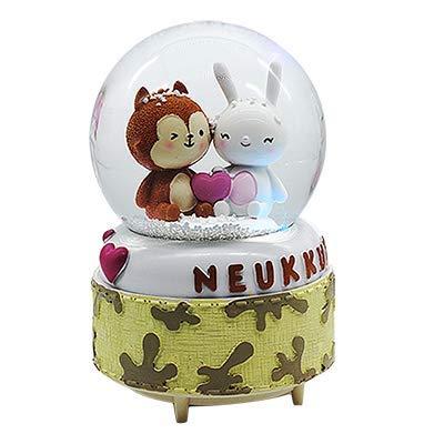 Youjiu Lucky Mopec Decorative Large Crystal Ball Luminous Snow Music Box Eight Music Box Birthday Gift, The Love Of The Descendants Of The Big Sun