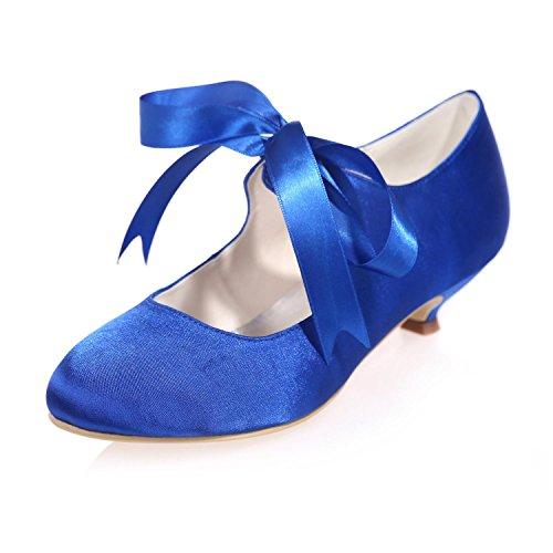 L @ yc Femmes Chaussures De Mariage Printemps Automne Printemps / Talons Hauts / Mariages Dans La Soirée Et Satin Satin Satin Multicolore Bleu