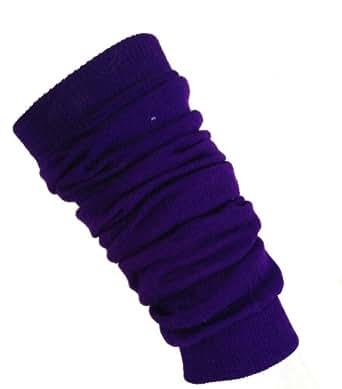Neon Leg Warmers Dancewear Party Fancy Dress 80s Rave Clubbing Cybe (Purple)
