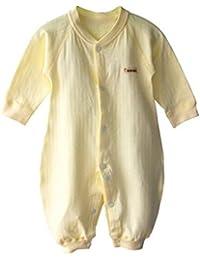 Recién nacidos Niñas Niños Color sólido disfraz para bebé Pelele de manga larga para niño