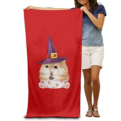 Cute Cat with A Hat Bath Towels Soft Machine Washable Easy Care Pool Towel Fast Drying Travel Multipurpose Use Spa Quality Lightweight Towel - Propan-gas-pool