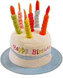 Happy Birthday Hat With Candles Blue Amazoncouk Toys Games