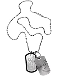Diesel Gents Stainless Steel Dog Tag Necklace