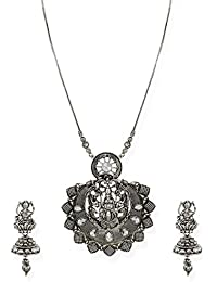 Zaveri Pearls Jewellery Set For Women (Silver) (ZPFK6749)