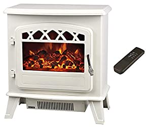 """Galleon Fires """"Castor """" Electric Stove - Cream - Electric Stove Fireplaces - Heater - Free standing Fires -"""