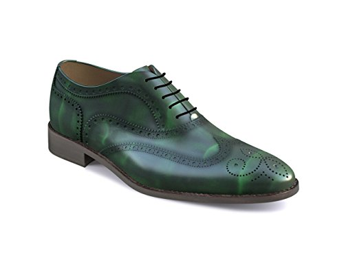 DIS - Fred - Richelieu Full Brogue - Homme Vert