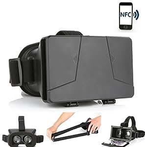 LEAP-HD 2015 NOUVELLE MIS À JOUR ! Tags NFC réalité virtuelle en carton TOOLKIT VIRTUAL REALITY VIEWER ColorCross universel Google carton plastique Version SMARTPHONE VR 3D complet Kit de réalité virtuelle lunettes casque HD véritable expérience 3d (avec les tags NFC)