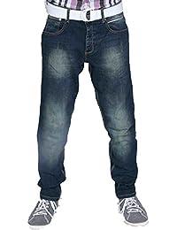 Newfacelook Hommes Jeans Mode Denim Men Pantalon Blue
