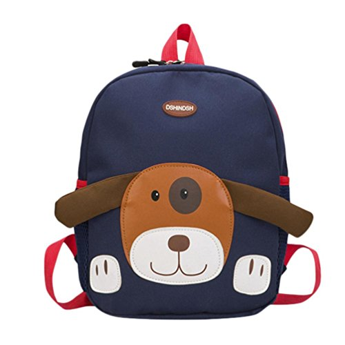 Ears Baby Jungen Schultaschen Cartoon Rucksack Kleinkind Schultaschen Shoulder Bags Handbag Baby Boys Girls Kids Bag Dog Pattern Cartoon Backpack Toddler School Bags (Dunkelblau) -
