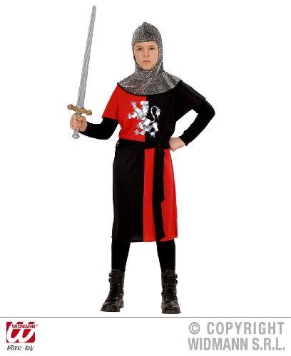 KINDERKOSTÜM - RITTER - rot/schwarz 140 (Mittelalterliche Kostüme Für Jugendliche)