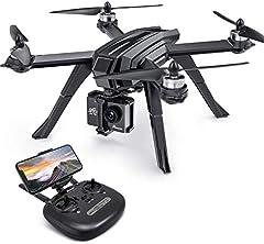 Idea Regalo - Potensic Drone Brushless GPS WiFi 5G con VideoCamera 2K FPV RC 130° Grandangolare Drone Professionale D85 con Funzione Seguimi, Headless per Camera C6000 C5000 C4000