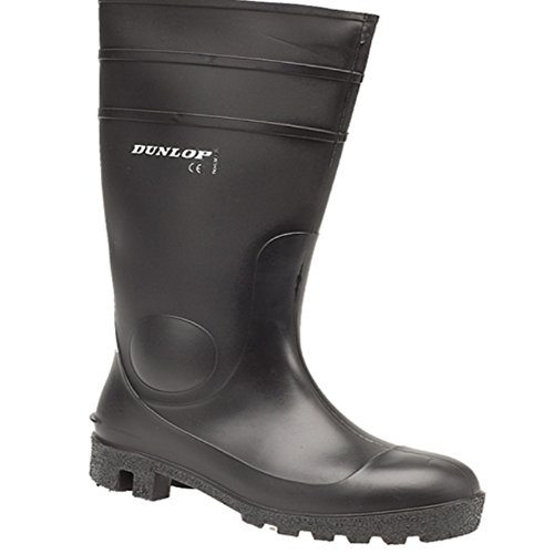 Dunlop - Stivali Wellington Unisex – adulto Nero (nero)
