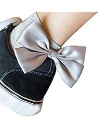 Ruban D Or, Grand Noeud Papillon----HUI.HUI Femmes Bas Chaussettes Collants  Sans Bretelles Dentelle Noeud Papillon Pleine Longueur… 84ae6d82de7