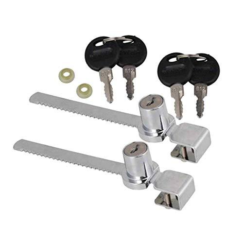 GOOTRADES 2 Set Schiebe Glas Tür Schrank Schaukasten Verschluss + 2 Schlüssel -