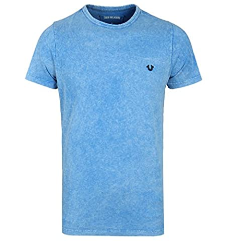 True Religion French Blue Distressed T-Shirt-SMALL