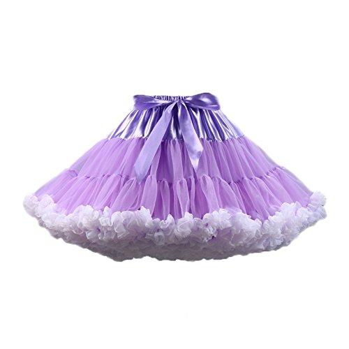 PhilaeEC Frauen Tüll Petticoat Tutu Party Multi-Layer Puffy -