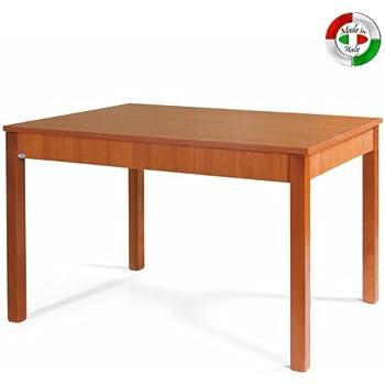 Tavolo da pranzo allungabile interamente in legno cm 85x140/180 ...