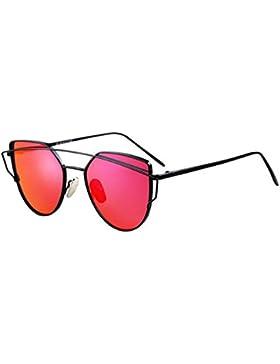 ANHPI Gafas De Sol Polarizadas Marco Grande De Metal Para Mujer Súper Ligero Cómodo Protección Solar Protección...
