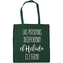 HippoWarehouse Las Personas Decepcionan, El Helado Es Eterno Bolso de Playa Bolsa Compra Con Asas