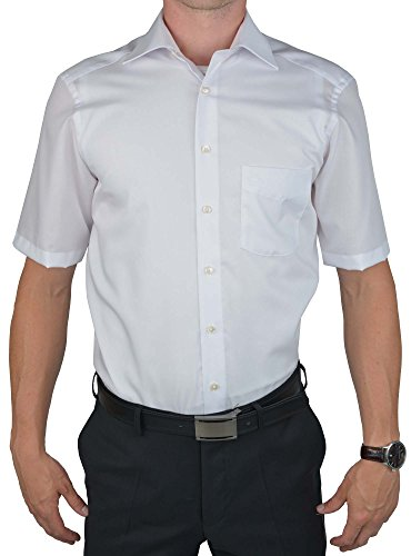 Olymp luxor chemise à manches courtes coupe moderne blanc Blanc - blanc