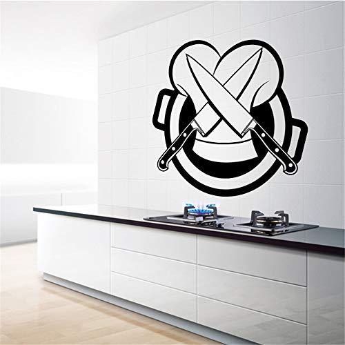 Heißer Verkauf Abnehmbare Messer Küche Aufkleber Wohnkultur Wandbilder Wandaufkleber Tapete Küche Chef Dekoration Zubehör grau M 30 cm X 31 cm