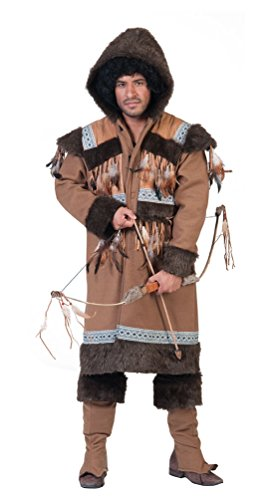 ,Karneval Klamotten' Kostüm Eskimo Mann Herr Kostüm Karneval Inuit Herrenkostüm Größe 48/50