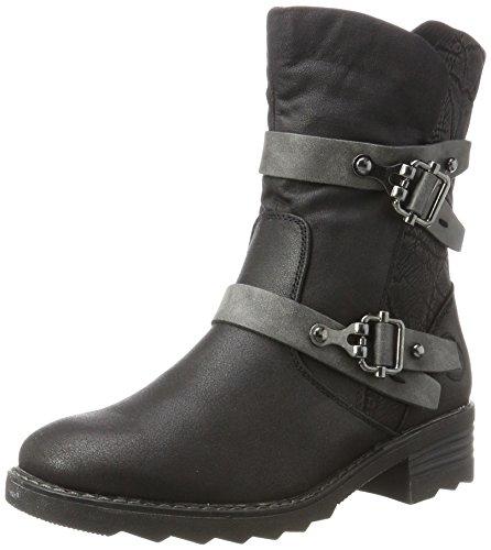 Marco Tozzi Damen 26482 Biker Boots, Schwarz (Black Ant.Comb), 40 EU (Canvas-boot)