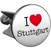 Plopp bonde I love Stuttgart, pour lavabo, bonde, bonde Excenter, déversoir