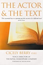 The Actor And The Text by Cicely Berry (2000-06-08)