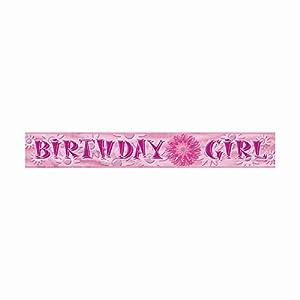 Partido Ênico 12 pies Foil Birthday Girl Banner
