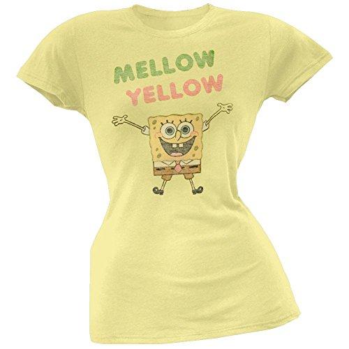 Spongebob Schwammkopf–Mellow Yellow Junioren T-Shirt Gr. Large, gelb (Schwammkopf-kleidung Spongebob)
