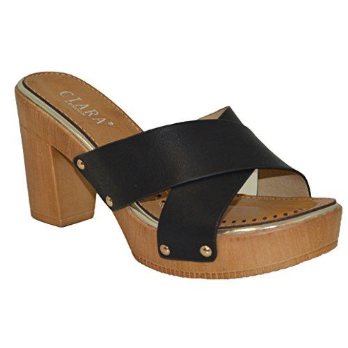 Ciara , Sandales pour femme Noir