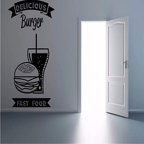 Jungen Und Ggirls Zimmer Wand Vinyl Aufkleber Aufkleber Schild Schaufenster Fast Food Cola Fries Burger 44 * 70Cm Zxfcczxf