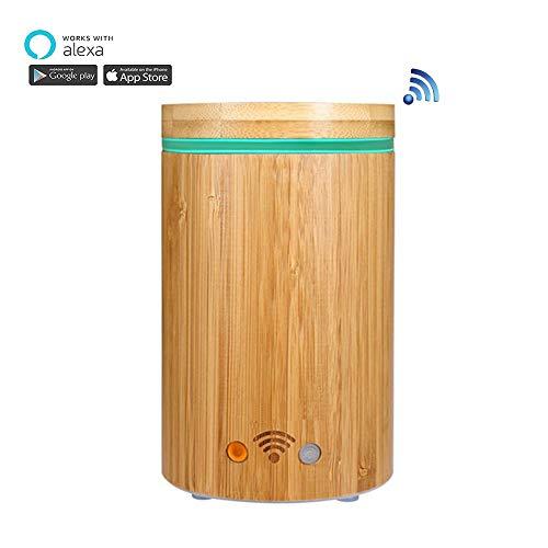 APP Wifi umidificatore per SPA elettrico Bamboo con diffusore di aromi supporto Google Alexa con luce RGB