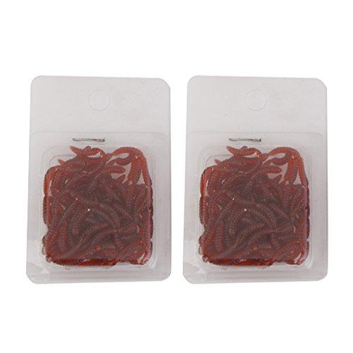200pcs 1,2 Cm Morbido Lombrico Verme Rosso Attira La Pesca Con Esche Abramide Pesce Persico