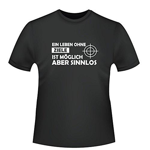 Ein Leben ohne Ziele ist möglich aber sinnlos, Herren T-Shirt - Fairtrade - ID104720 Schwarz